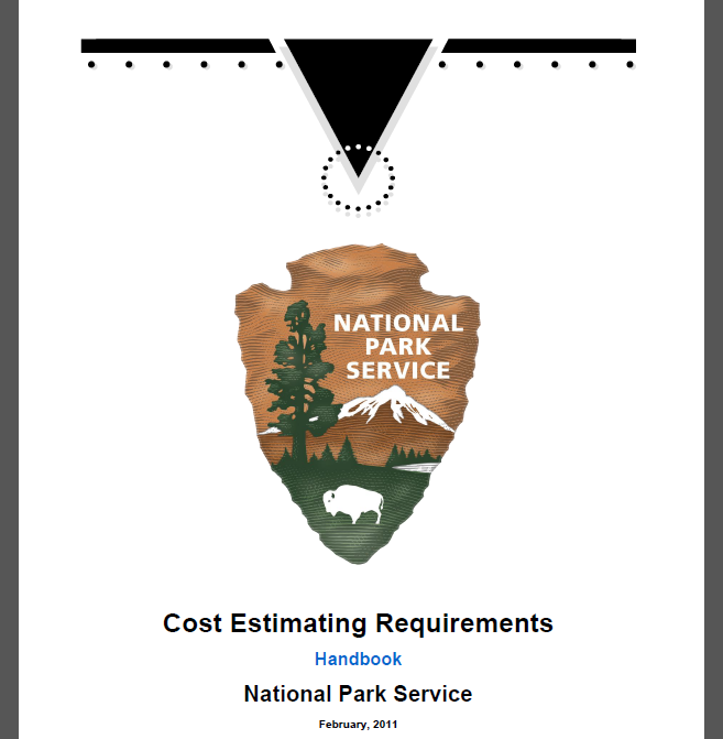 This US National Park Service Cost Estimating Requirements reference contains the data set used in this tutorial.